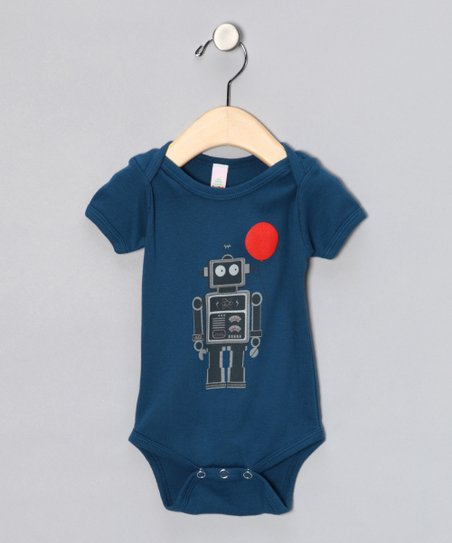 Galaxy Balloon Bot Organic Short Sleeve Bodysuit - Infant