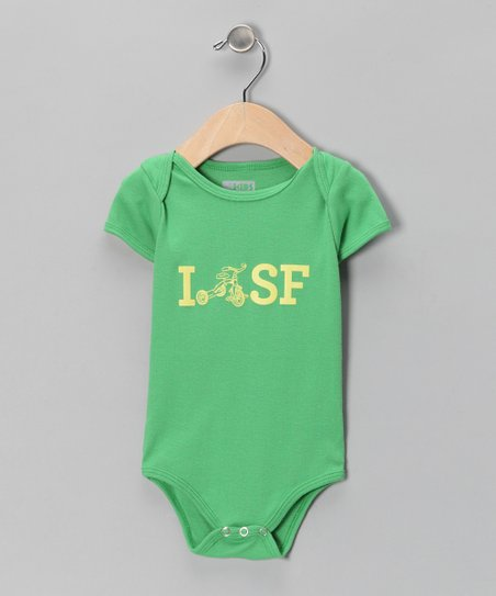 Grass Trike SF Organic Short Sleeve Bodysuit - Infant