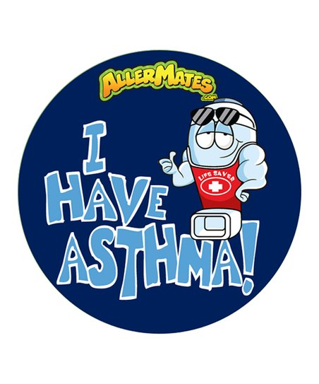 'I Have Asthma' Sticker - Set of 48