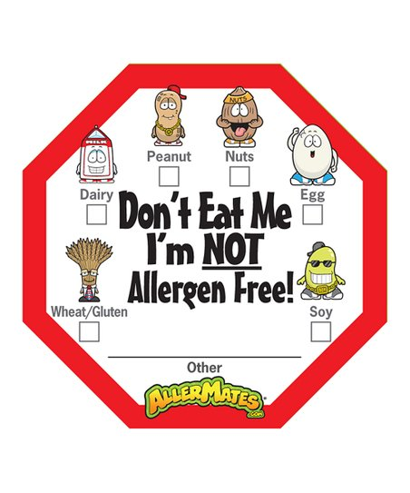 Check Box 'Don't Eat Me' Food Packaging Label - Set of 48