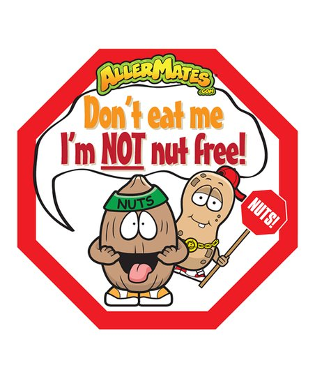 Nut 'Don't Eat Me' Food Packaging Label - Set of 48