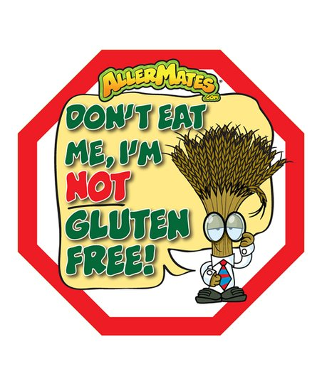 Gluten 'Don't Eat Me' Food Packaging Label - Set of 48