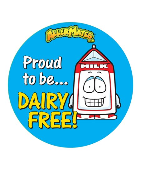 Dairy Food Allergy Sticker - Set of 48