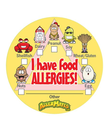 &#039;I Have Food Allergies&#039; Sticker - Set of 48