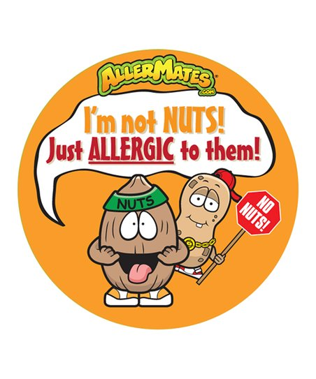 Peanut/Nut Food Allergy Sticker - Set of 48