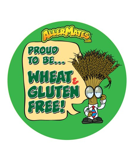 Wheat/Gluten Food Allergy Sticker - Set of 48