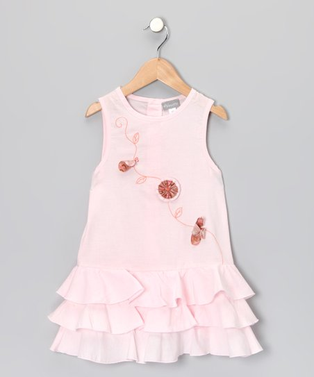 Pink Busy Butterfly Dress – Girls