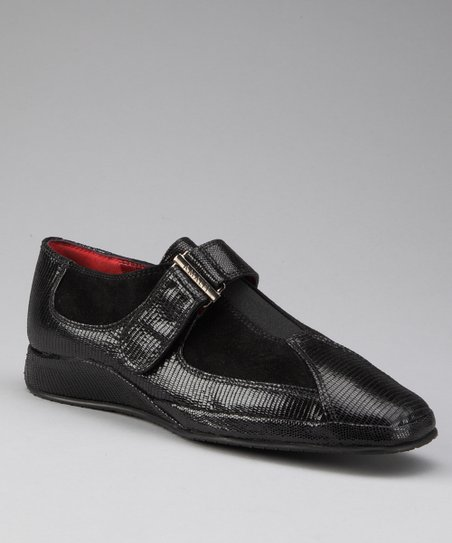 Black Leather Egadi Shoe