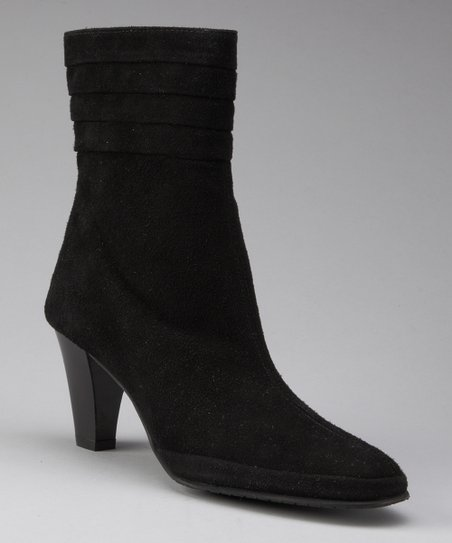 Black Suede Garba Boot
