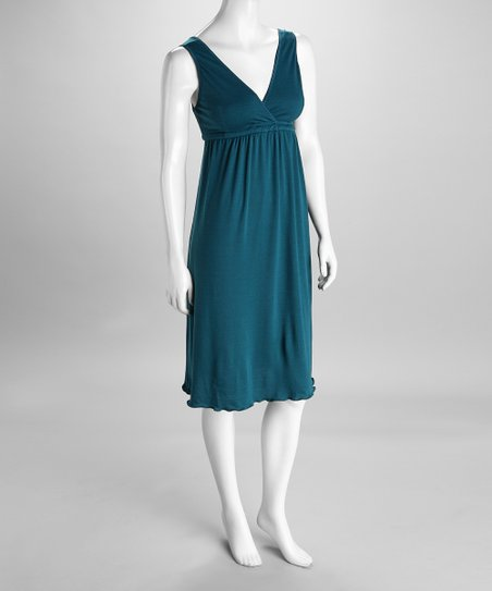 Deep Teal Signature Nursing Gown - Women & Plus