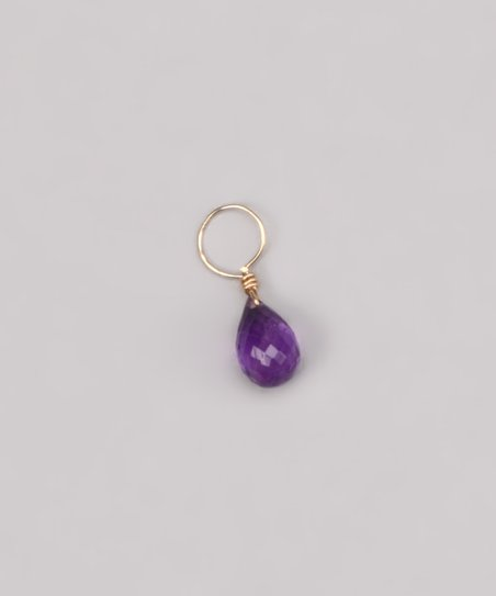 Purple Amethyst February Birthstone Charm