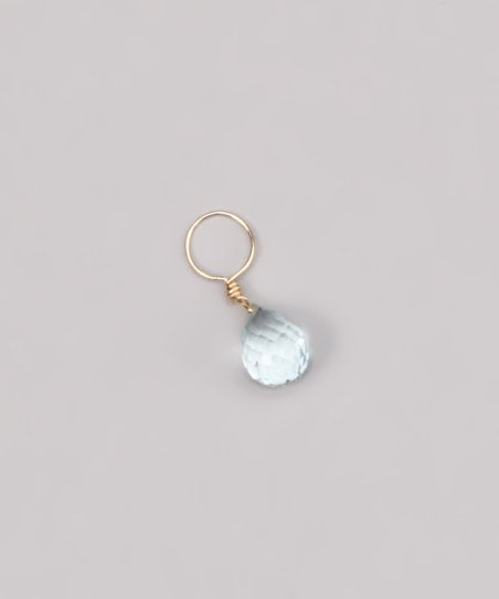 Light Blue Aquamarine March Birthstone Charm