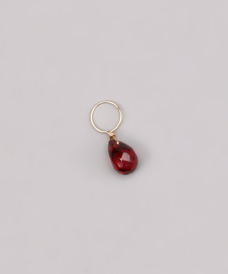 Red Garnet January Birthstone Charm