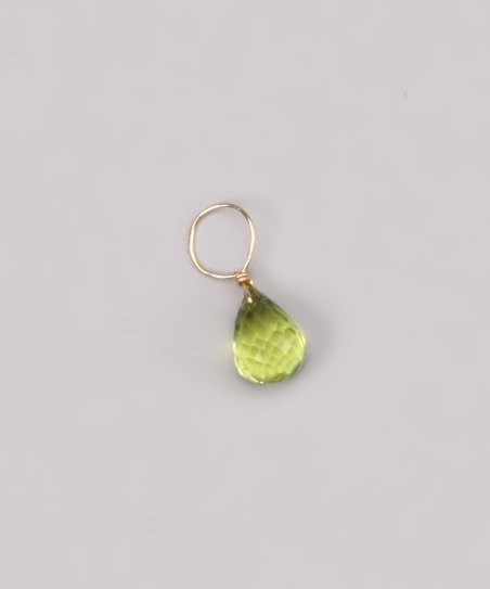 Lime Green Peridot August Birthstone Charm
