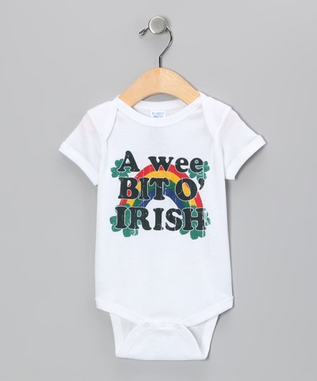 White 'Wee Bit O' Irish' Bodysuit - Infant
