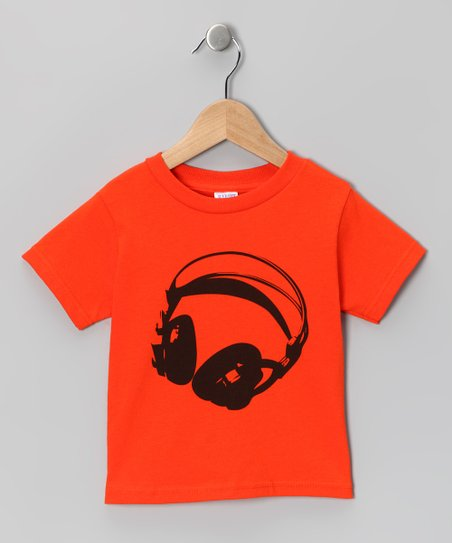 Orange Listen Up Tee - Toddler & Kids