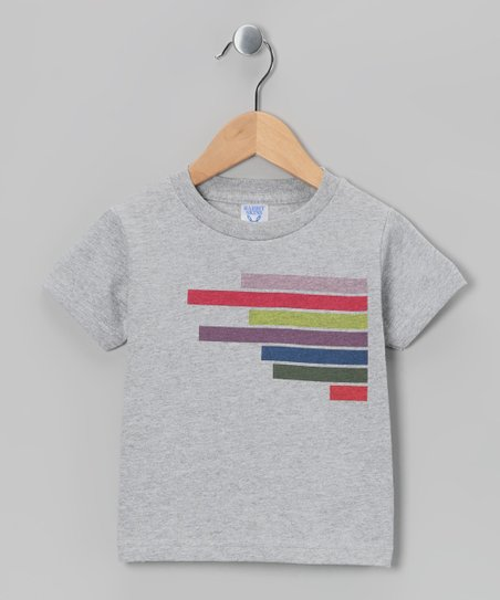 Heather Gray EQ Lines Tee - Toddler & Kids