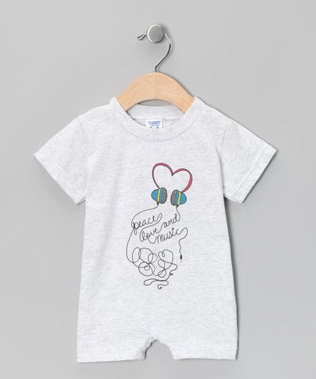 Ash 'Peace Love and Music' Romper - Infant
