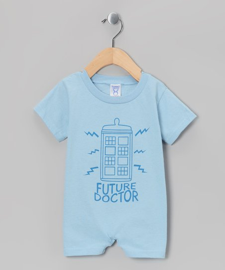Blue Future Doctor Romper