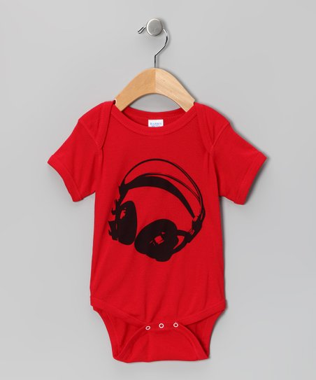 Red Listen Up Bodysuit - Infant