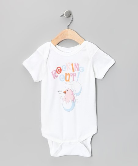 White &#039;Rocking Out!&#039; Bodysuit - Infant
