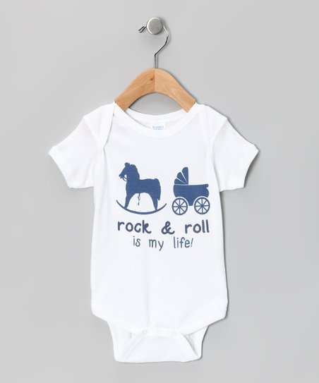 White 'Rock & Roll Is My Life' Bodysuit - Infant