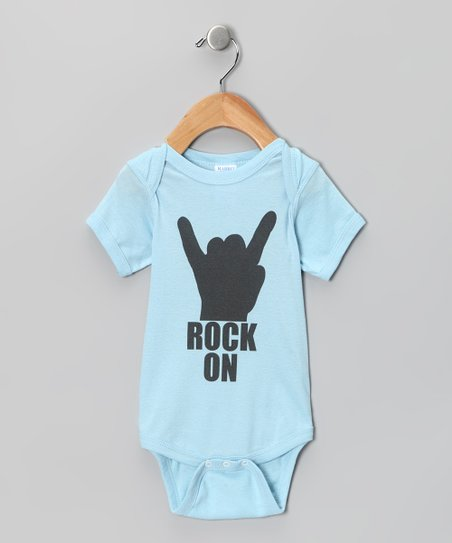 Light Blue 'Rock On' Bodysuit - Infant