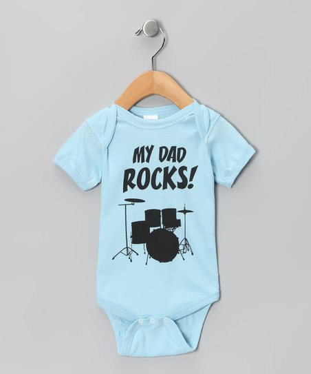 Light Blue 'My Dad Rocks' Bodysuit - Infant
