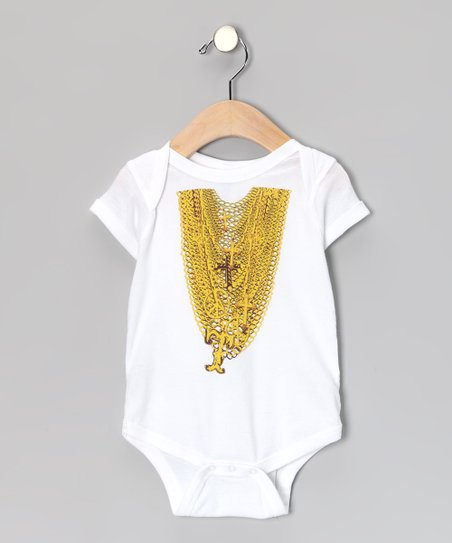 White Mr. T Chains Bodysuit - Infant