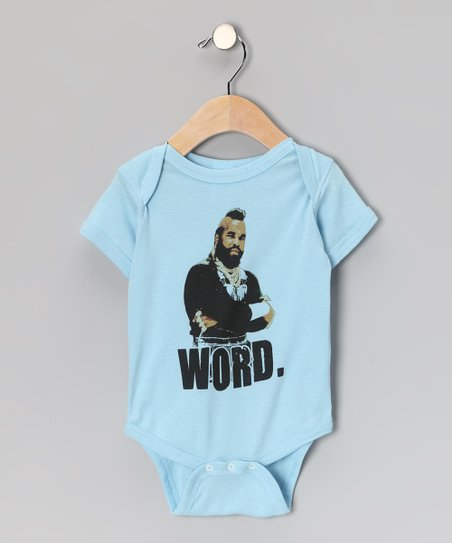 Light Blue Mr. T 'Word.' Bodysuit - Infant