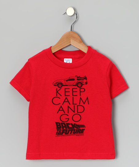 Red &#039;Keep Calm and Go Back to the Future&#039; Tee - Toddler &amp; Kids