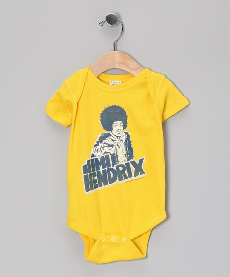 Yellow &#039;Jimi Hendrix&#039; Bodysuit - Infant