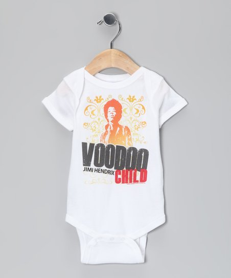 White 'Voodoo Child' Fleur Jimi Hendrix Bodysuit - Infant