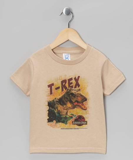 Khaki 'T-Rex' Tee - Toddler & Kids