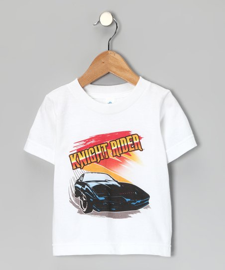 White 'Knight Rider' Tee - Toddler & Kids