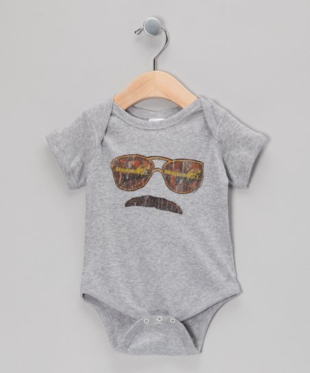 Heather Gray Magnum P.I. Bodysuit - Infant