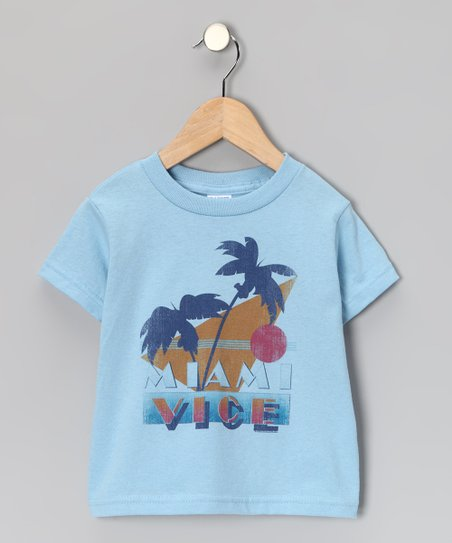 Light Blue &#039;Miami Vice&#039; Tee - Toddler &amp; Kids
