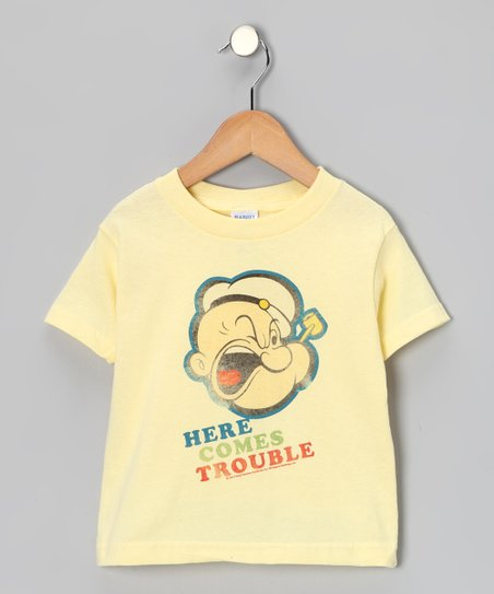 Light Yellow 'Here Comes Trouble' Tee - Toddler & Boys