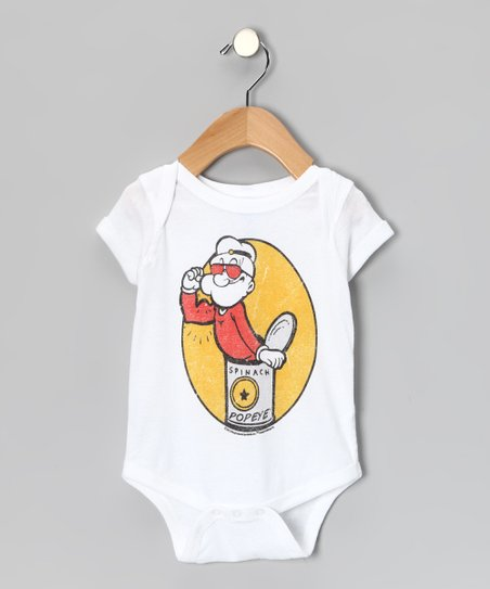 White 'Spinach' Popeye Bodysuit - Infant