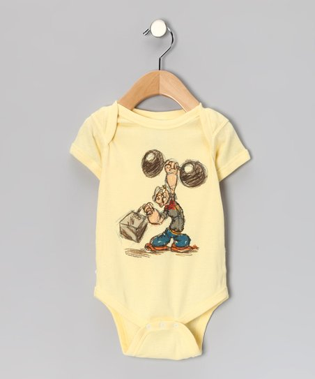 Banana Popeye Weight Lifter Bodysuit - Infant