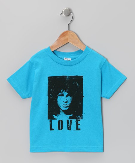 Turquoise 'Love' Jim Morrison Tee - Toddler & Kids