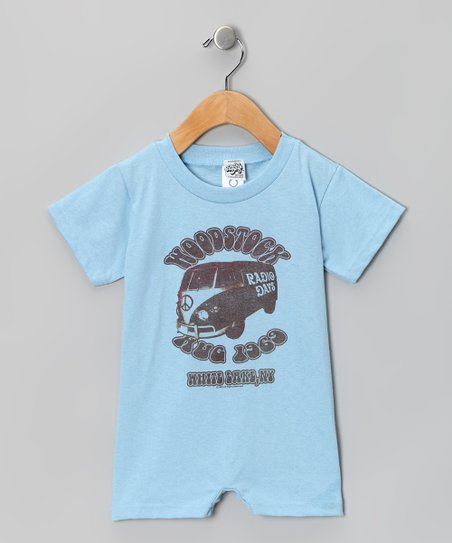 Light Blue 'Woodstock Hug 1969' Romper - Infant