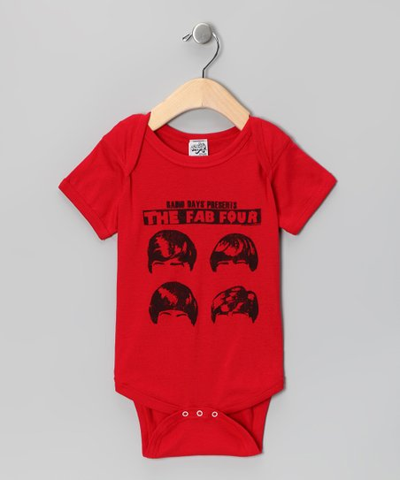 Red 'The Fab Four' Bodysuit - Infant