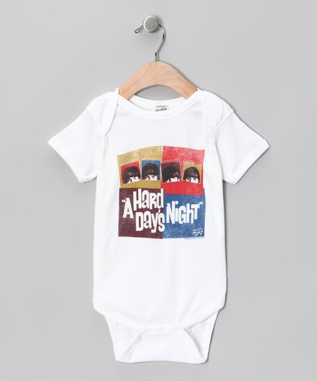 White 'A Hard Day's Night' Squares Bodysuit - Infant