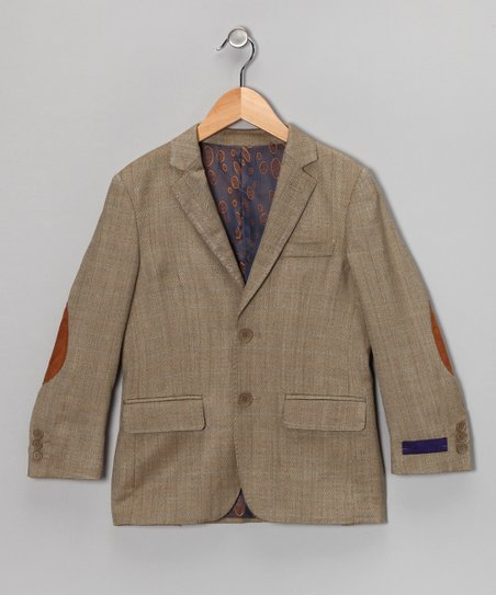 Tan Wool Blazer - Boys