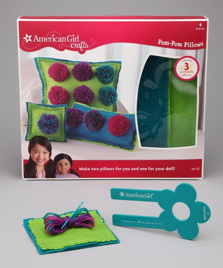 Cool Colors Pom-Pom Pillow Kit