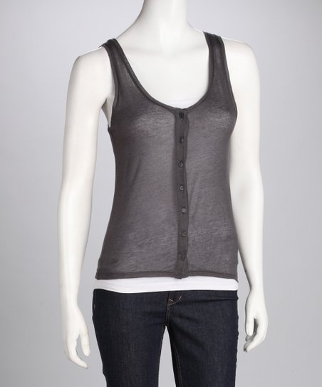 Granite Button-Up Sweater Tank