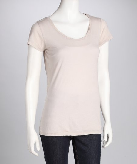 Lychee Scoop Neck Top