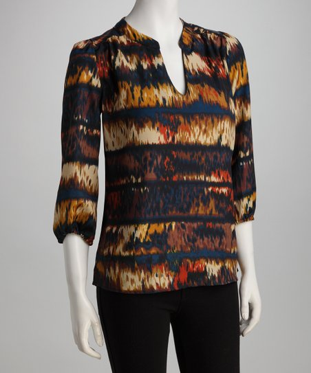 Orange Ikat Alicia Top