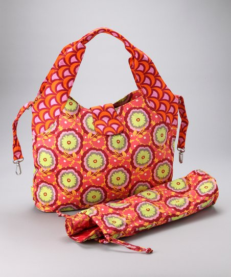 Tangerine Buttercups Tulip Organic Diaper Bag